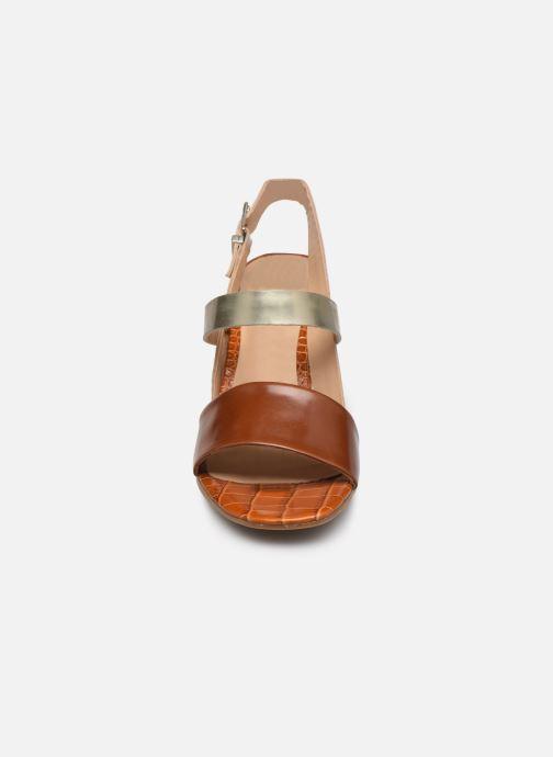 Sandalen Perlato 11798 braun schuhe getragen