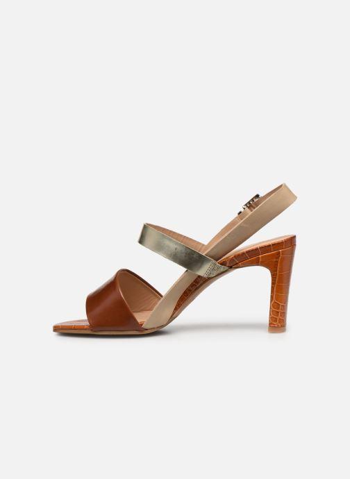 Sandalen Perlato 11798 braun ansicht von vorne