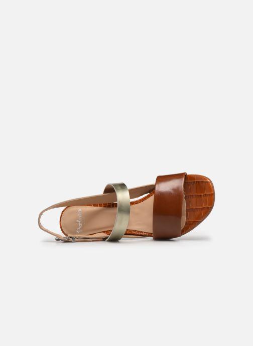 Sandalen Perlato 11798 braun ansicht von links