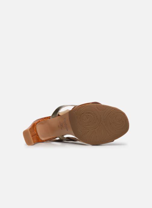 Sandalen Perlato 11798 braun ansicht von oben
