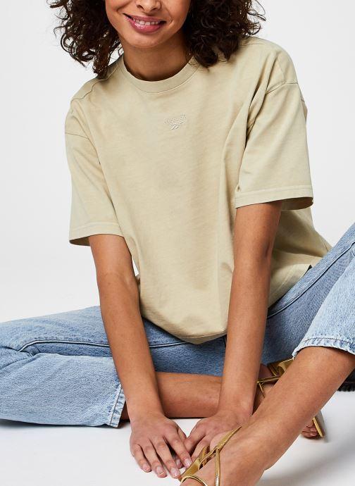 Ropa Reebok Cl Rbk Nd Cropped T-Shirt Beige vista de detalle / par
