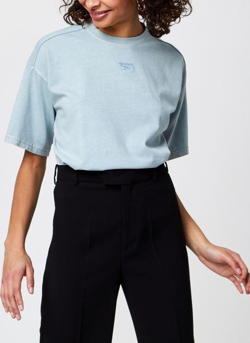 Ropa Reebok Cl Rbk Nd Cropped T-Shirt Azul vista de detalle / par