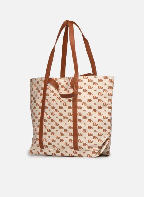 Handtaschen Bensimon Tote Iconique braun schuhe getragen