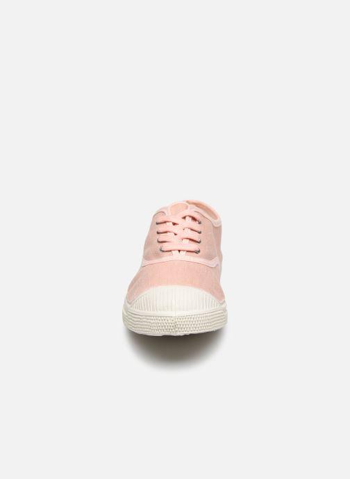 Sneaker Bensimon Tennis Lacet Femme Lin Coton rosa schuhe getragen