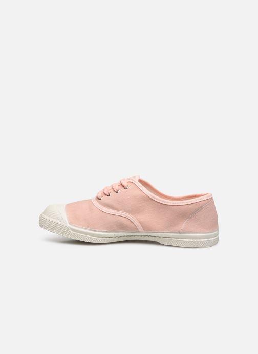 Sneaker Bensimon Tennis Lacet Femme Lin Coton rosa ansicht von vorne