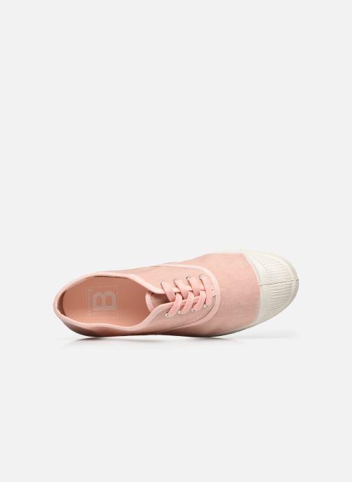 Sneaker Bensimon Tennis Lacet Femme Lin Coton rosa ansicht von links