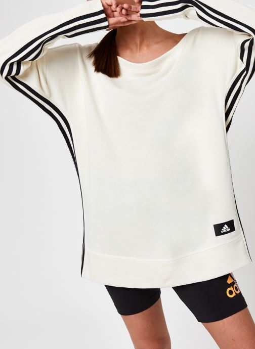 Kleding adidas performance W Recco Coverup Beige detail