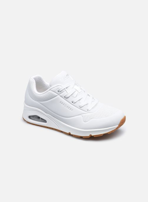 Baskets Skechers UNO STAND ON AIR N Blanc vue détail/paire