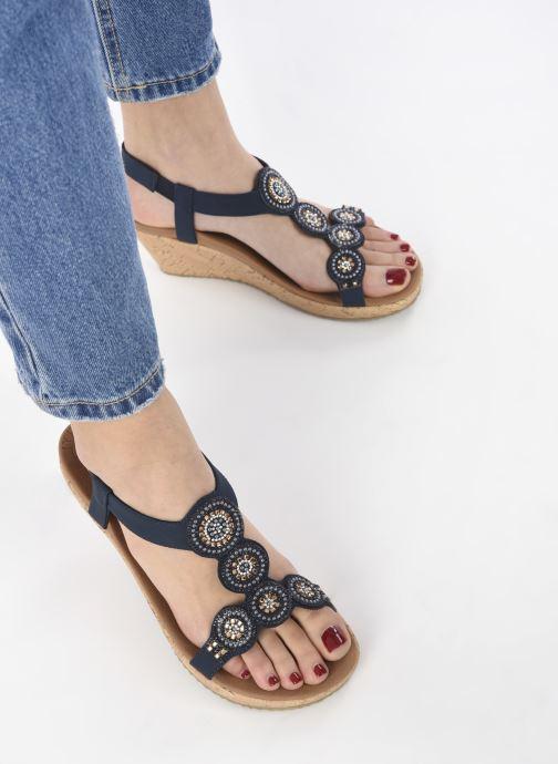 Sandali e scarpe aperte Skechers BEVERLEE DATE GLAM Azzurro immagine dal basso