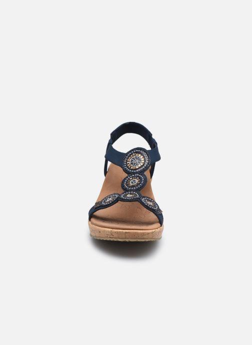 Sandali e scarpe aperte Skechers BEVERLEE DATE GLAM Azzurro modello indossato