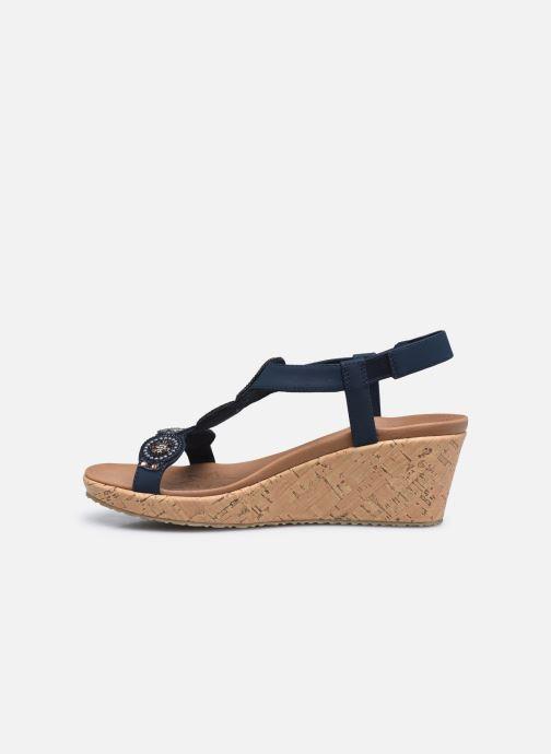 Sandali e scarpe aperte Skechers BEVERLEE DATE GLAM Azzurro immagine frontale