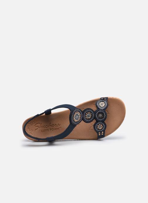 Sandalias Skechers BEVERLEE DATE GLAM Azul vista lateral izquierda