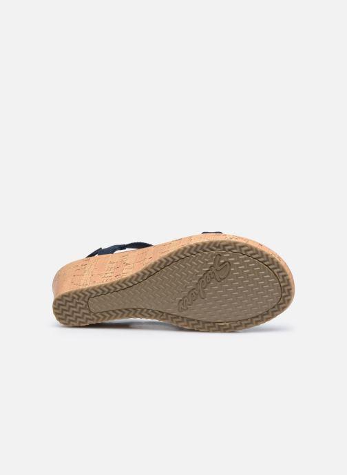 Sandalias Skechers BEVERLEE DATE GLAM Azul vista de arriba