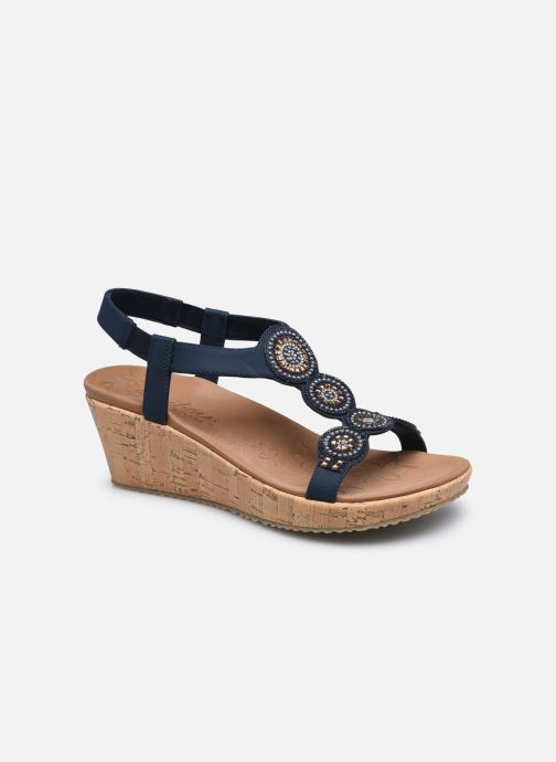 Sandalias Skechers BEVERLEE DATE GLAM Azul vista de detalle / par