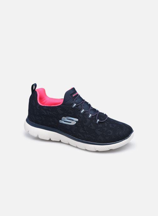 Zapatillas de deporte Skechers SUMMITS LEOPARD SPOT Azul vista de detalle / par