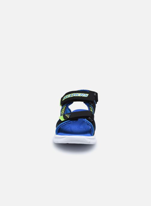 Sandalen Skechers E-II Sandal schwarz schuhe getragen