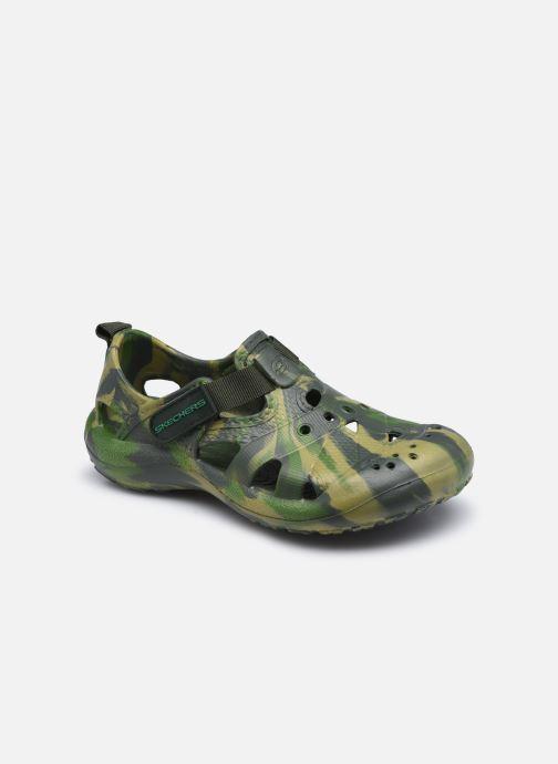 Sandalias Skechers Koolers Verde vista de detalle / par