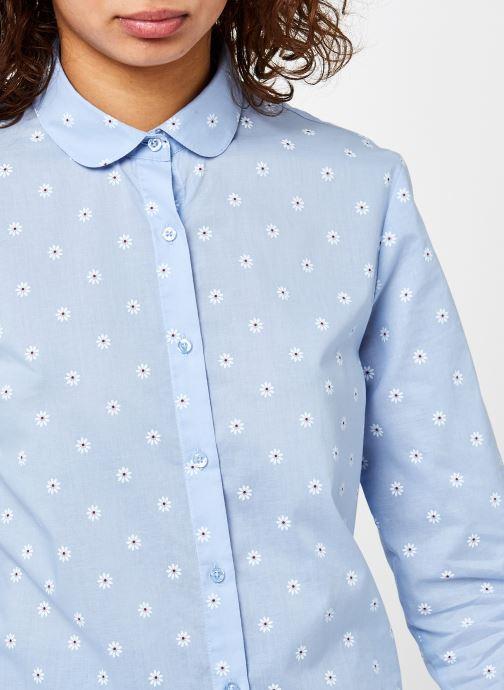 Vêtements School Rag Calia Flowers Bleu vue face