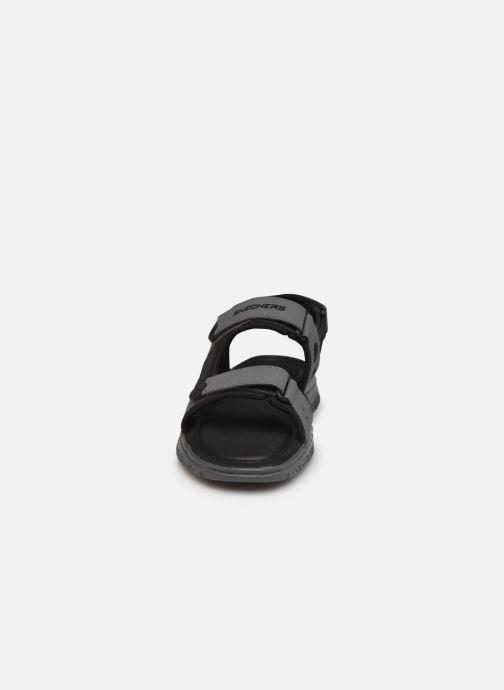 Sandalen Skechers FLEX ADVANTAGE S UPWELL grau schuhe getragen