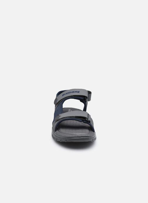 Sandalen Skechers FLEX ADVANTAGE S UPWELL schwarz schuhe getragen