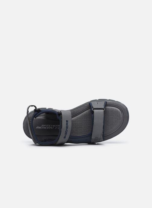 Sandalen Skechers FLEX ADVANTAGE S UPWELL schwarz ansicht von links