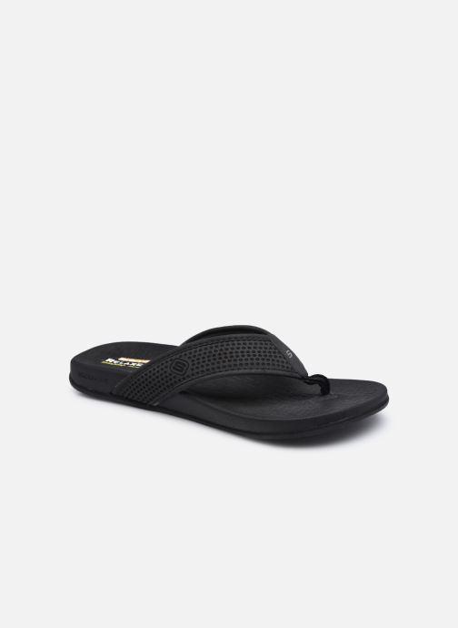Flip flops & klipklapper Skechers PELEM EMIRO Sort detaljeret billede af skoene