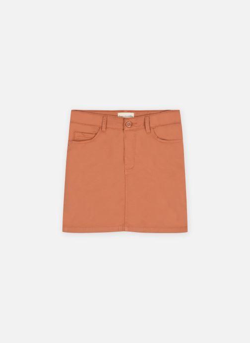 Vêtements Arsène et les Pipelettes Jupe poches gabardine stretch Marron vue détail/paire