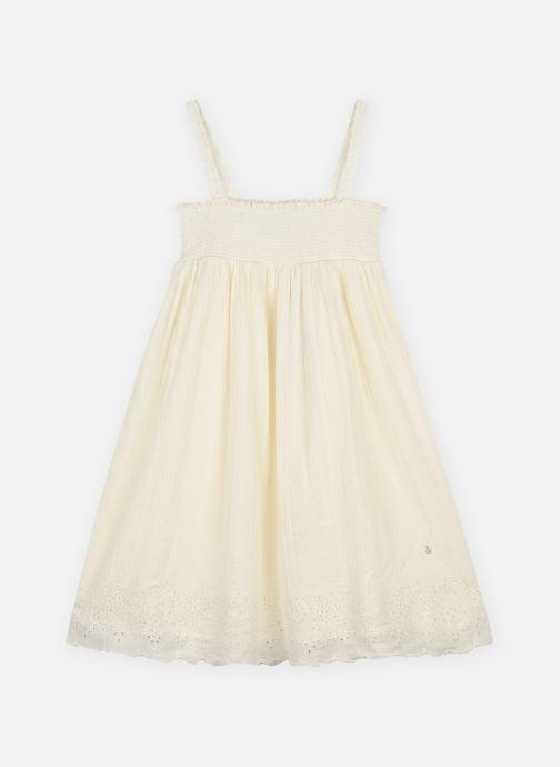 Vêtements Arsène et les Pipelettes Robe bretelle double gaze Blanc vue détail/paire