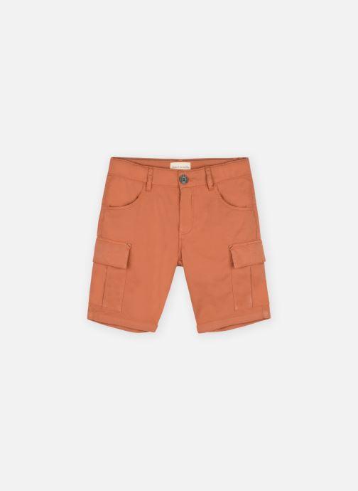 Vêtements Arsène et les Pipelettes Bermuda poches gabardine stretch Marron vue détail/paire