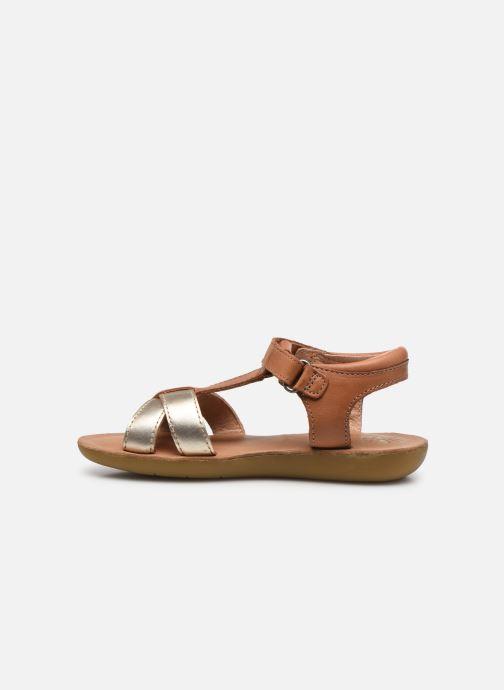 Sandales et nu-pieds Aster Terry Or et bronze vue face