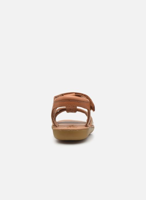 Sandales et nu-pieds Aster Terry Or et bronze vue droite