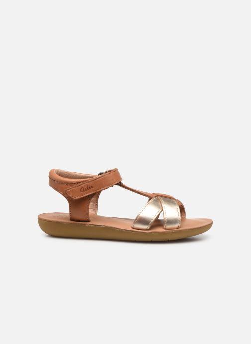 Sandales et nu-pieds Aster Terry Or et bronze vue derrière