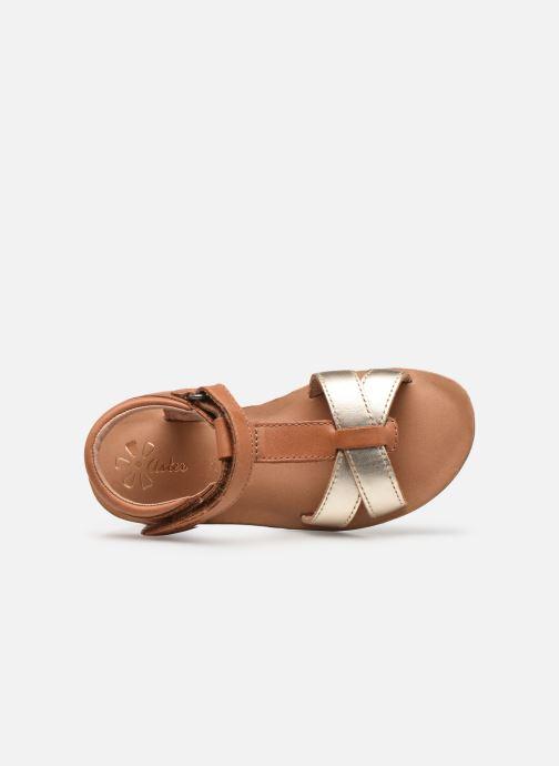 Sandales et nu-pieds Aster Terry Or et bronze vue gauche
