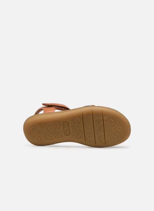 Sandales et nu-pieds Aster Terry Or et bronze vue haut