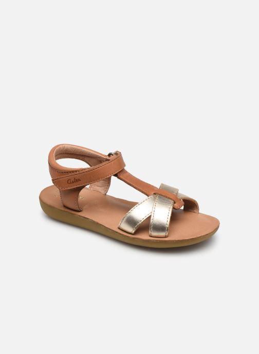 Sandales et nu-pieds Aster Terry Or et bronze vue détail/paire