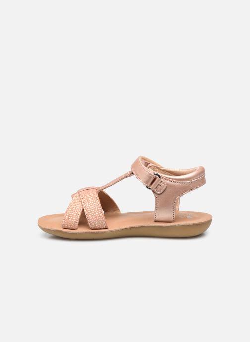 Sandales et nu-pieds Aster Terry Rose vue face