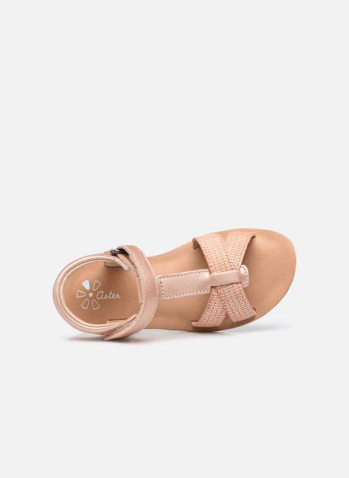 Sandales et nu-pieds Aster Terry Rose vue gauche