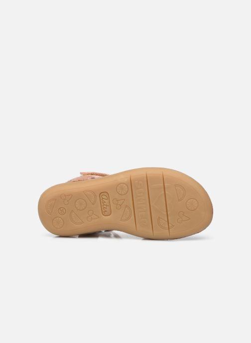 Sandales et nu-pieds Aster Terry Rose vue haut