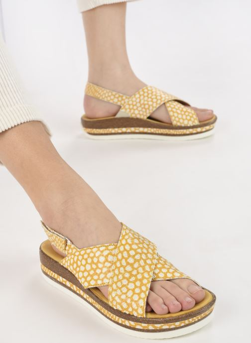 Sandali e scarpe aperte Think! Zega 686386 Giallo immagine dal basso
