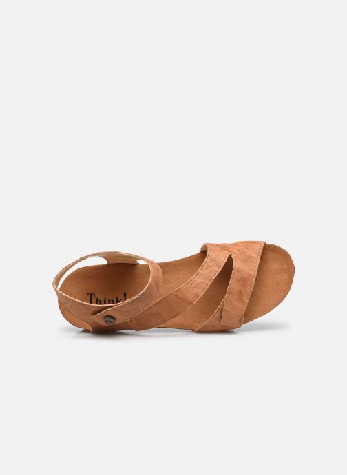Sandales et nu-pieds Think! Dumia 89370 Marron vue gauche