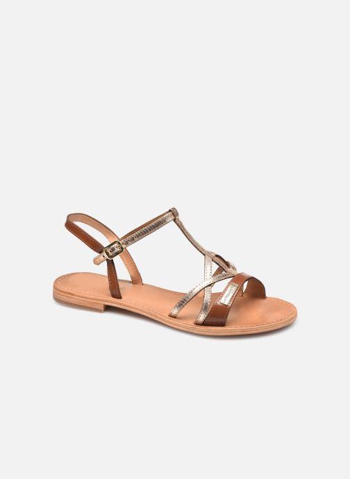 Sandales et nu-pieds Les Tropéziennes par M Belarbi HIRONELA Marron vue détail/paire