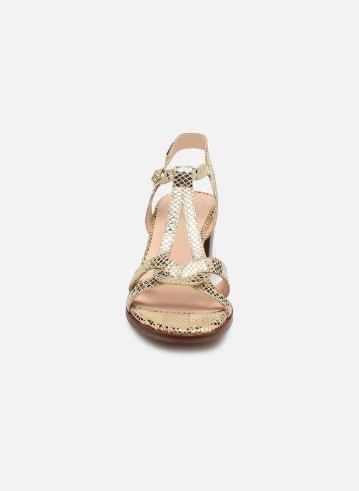 Sandali e scarpe aperte Les Tropéziennes par M Belarbi LILA Oro e bronzo modello indossato