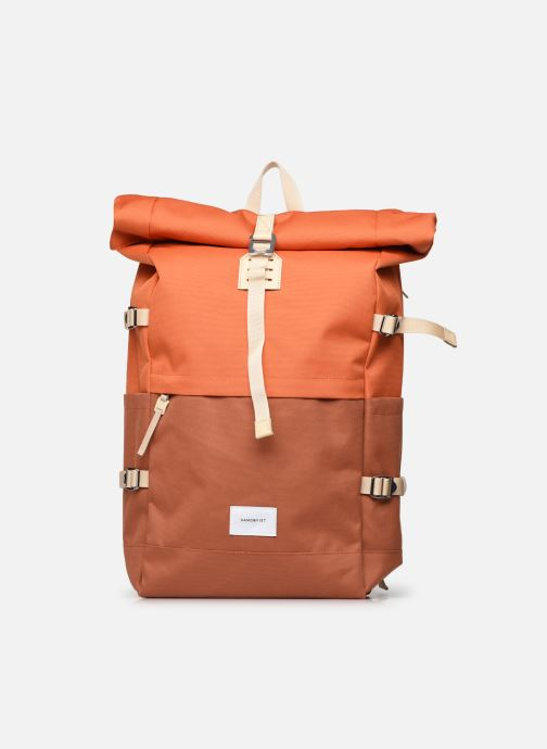 Mochilas Bolsos Multi Burnt Orange with natural leather