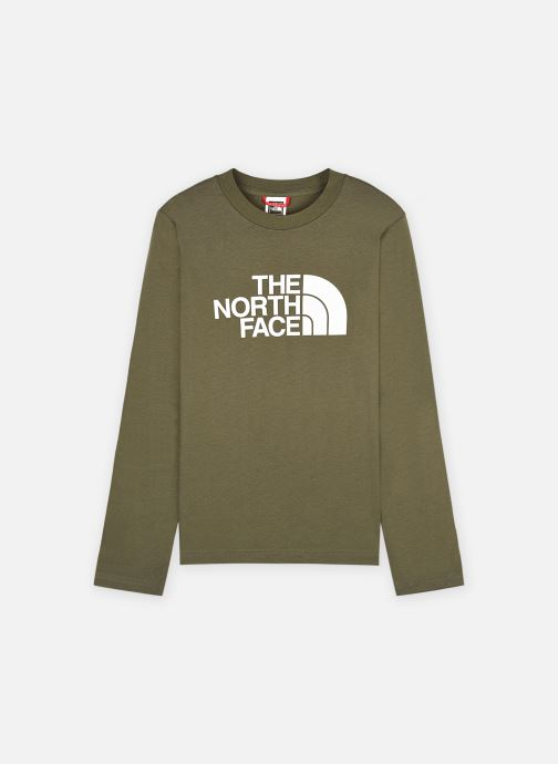 Kleding The North Face L/S Easy Tee Groen detail