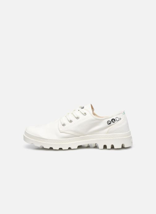 Sneakers Palladium PAMPA OX ORGANIC II Wit voorkant