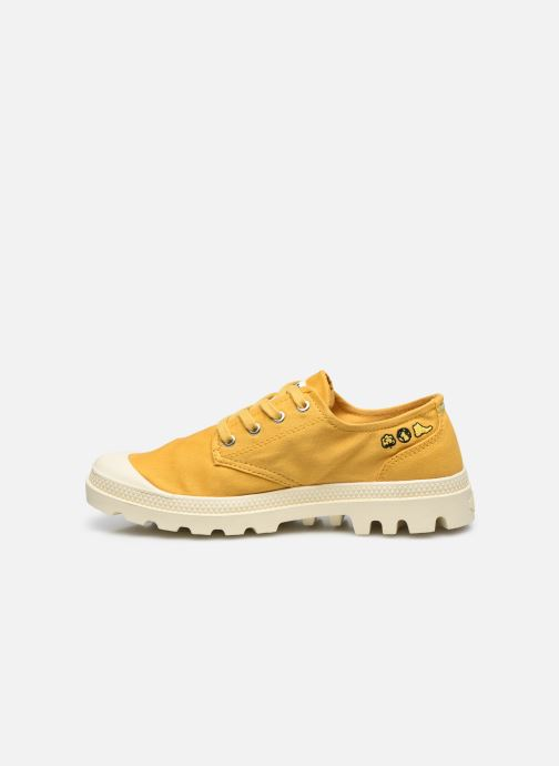 Sneakers Palladium PAMPA OX ORGANIC II Geel voorkant