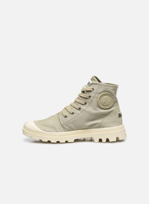 Sneakers Palladium PAMPA HI ORGANIC II Groen voorkant