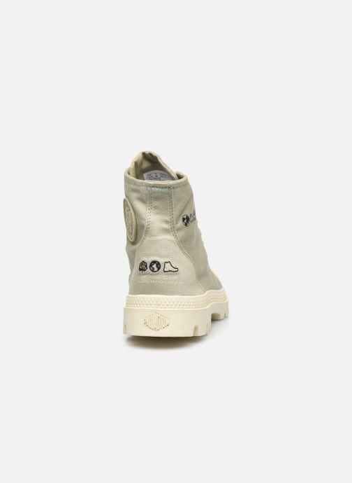 Sneakers Palladium PAMPA HI ORGANIC II Groen rechts