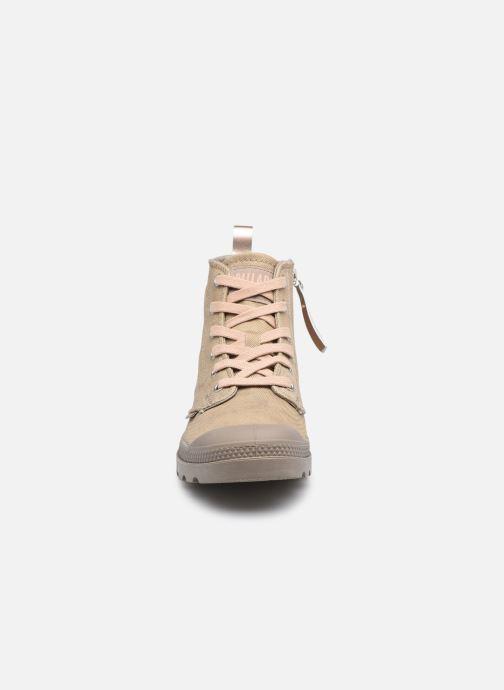 Baskets Palladium PAMPA ZIP DESERT WASH Marron vue portées chaussures