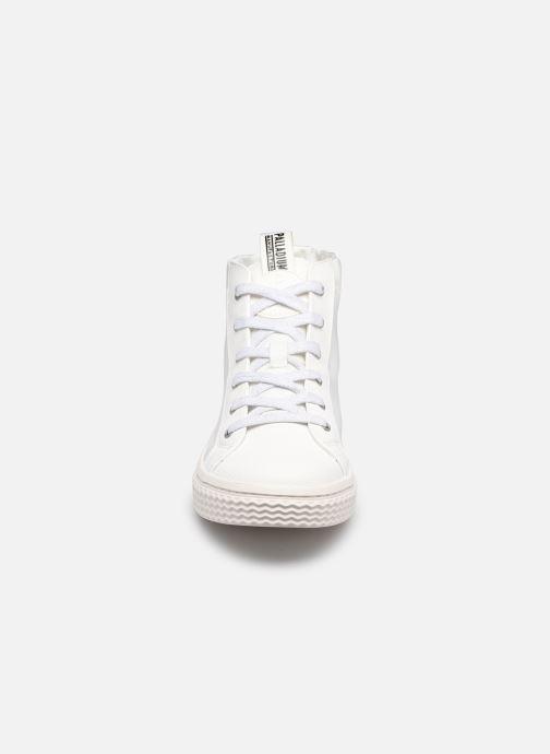 Sneakers Palladium TEMPO 05 NYL Bianco modello indossato